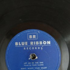 Discos de pizarra: DISCO DE PIZARRA BLUE RIBBON LET ME BE THE ONE. Lote 176750485