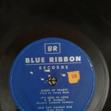 Discos de pizarra: DISCO DE PIZARRA BLUE RIBBON DEATH OF HANK WILLIAMS. Lote 176750767