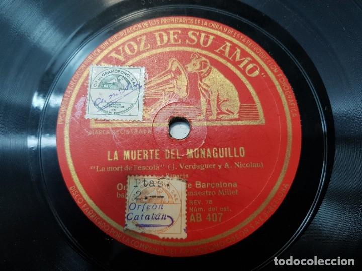 Discos de pizarra: Disco Pizarra-La Muerte del Monaguillo-Orfeon Catalan sellado rev 78 - Foto 3 - 176928250