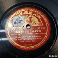 Discos de pizarra: DISCO PIZARRA-PLEGARIA A LA VIRGEN DE LOS REMEDIOS-ORFEON CATALAN SELLADO REV 78. Lote 176929568