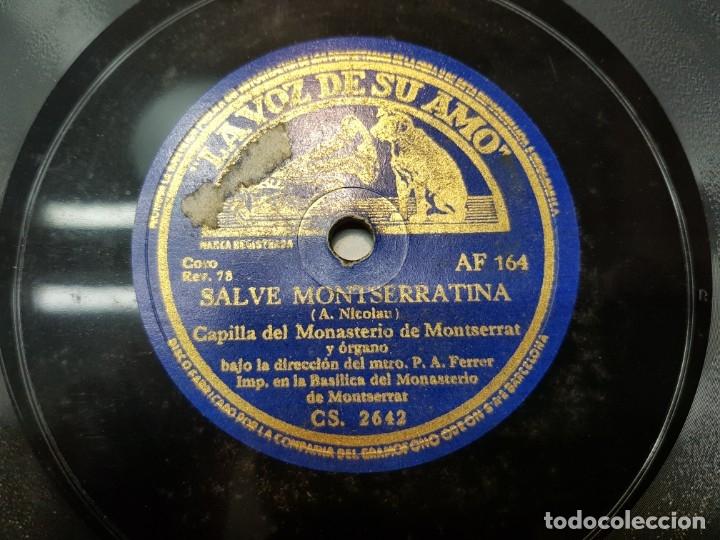 DISCO PIZARRA-SALVE MONSERRATINA-CAPILLA MONASTERIO MONSERRAT REV 78 (Música - Discos - Pizarra - Flamenco, Canción española y Cuplé)