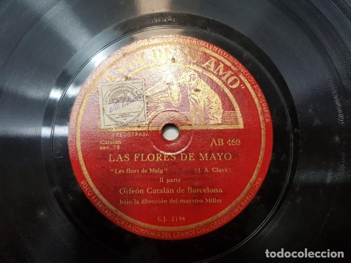 Discos de pizarra: Disco Pizarra-Las Flores de Mayo-Orfeon Catalan rev 78 sellado - Foto 3 - 176930619