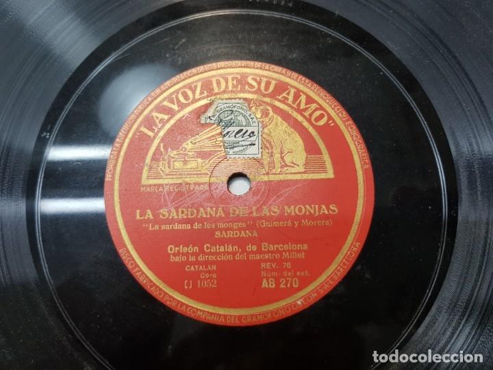 DISCO PIZARRA-LAS SARDANAS DE LAS MONJAS-ORFEON CATALAN REV 78 SELLADO (Música - Discos - Pizarra - Flamenco, Canción española y Cuplé)