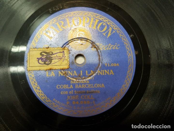 DISCO PIZARRA-LA NENA Y LA NINA-JOSE COLL REV 78 SELLADO (Música - Discos - Pizarra - Flamenco, Canción española y Cuplé)