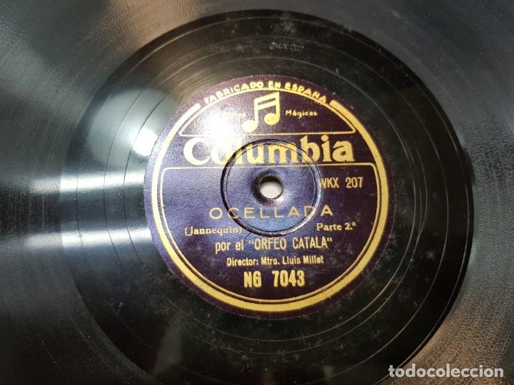 Discos de pizarra: Disco Pizarra-Ocellada-Orfeo Catala rev 78 sellado - Foto 3 - 176956203