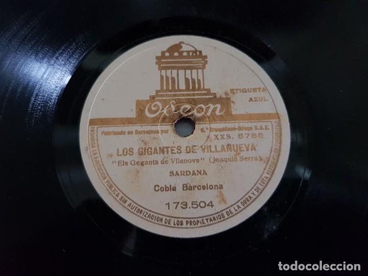 DISCO PIZARRA-LOS GIGANTES DE VILLANUEVA-SARDANA CATALA REV 78 SELLADO (Música - Discos - Pizarra - Flamenco, Canción española y Cuplé)