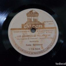 Discos de pizarra: DISCO PIZARRA-LOS GIGANTES DE VILLANUEVA-SARDANA CATALA REV 78 SELLADO. Lote 176956388