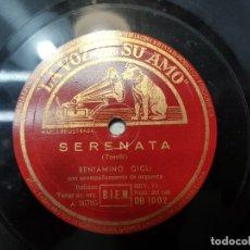 Discos de pizarra: DISCO PIZARRA-SERENATA-TOSELLI REV 78 SELLADO. Lote 176956593