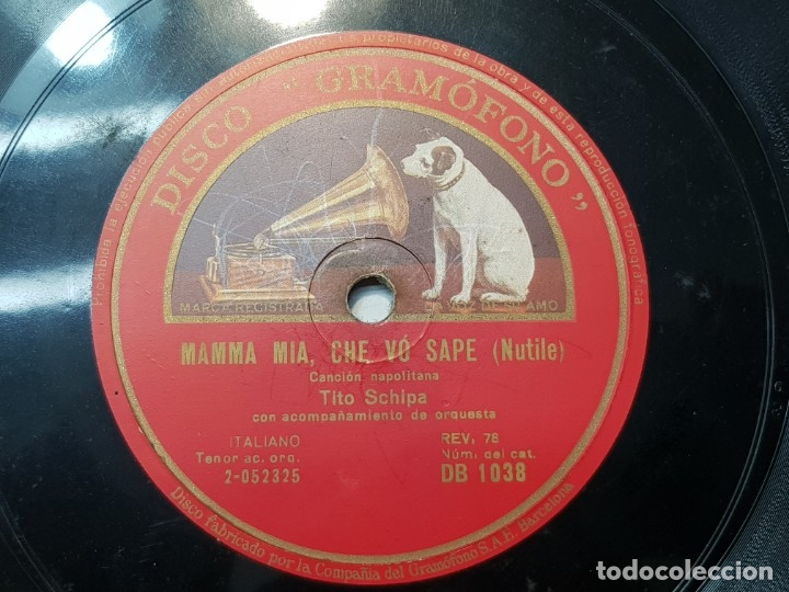 DISCO PIZARRA-MAMMA MÍA,CHE VO SAPE-CANCION NAPOLITANA REV 78 (Música - Discos - Pizarra - Otros estilos)
