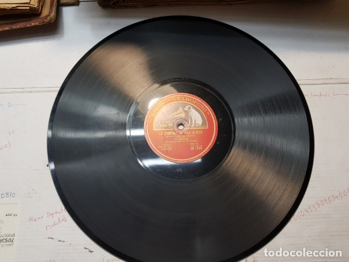 Discos de pizarra: Disco Pizarra-Mamma Mía,Che Vo Sape-Cancion Napolitana rev 78 - Foto 4 - 176957015