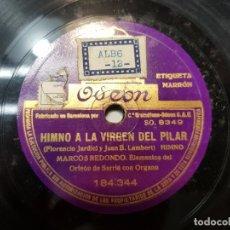Discos de pizarra: DISCO PIZARRA-HIMNO A LA VIRGEN DEL PILAR-ZARAGOZA. Lote 176961663
