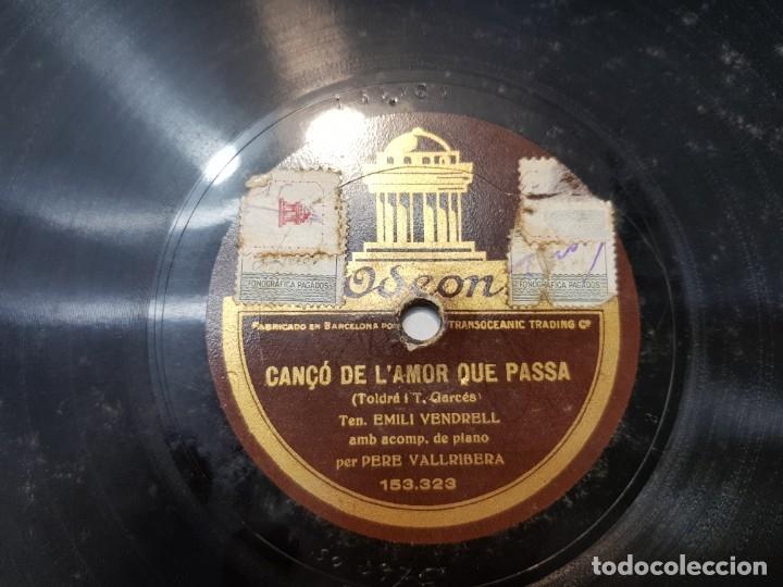 Discos de pizarra: Disco Pizarra-Cançó de L'Amor que Passa -Odeon - Foto 3 - 176962087