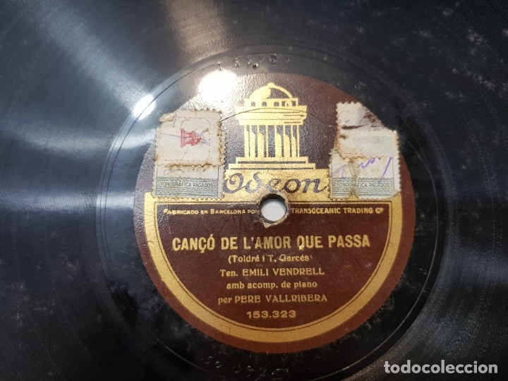 Discos de pizarra: Disco Pizarra-Cançó de LAmor que Passa -Odeon - Foto 3 - 176962087