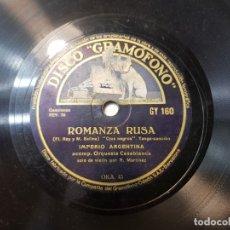 Dischi in gommalacca: DISCO PIZARRA ANTIGUO-ROMANZA RUSA-IMPERIO ARGENTINA . Lote 176967293