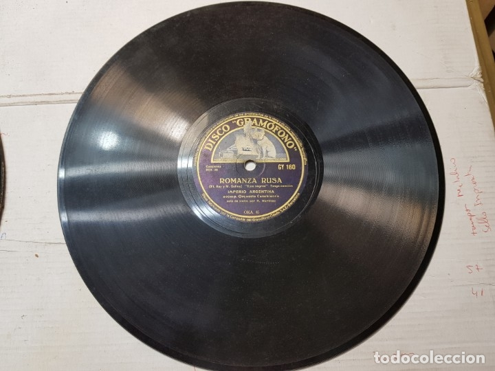 Discos de pizarra: Disco pizarra antiguo-Romanza Rusa-Imperio Argentina - Foto 2 - 176967293