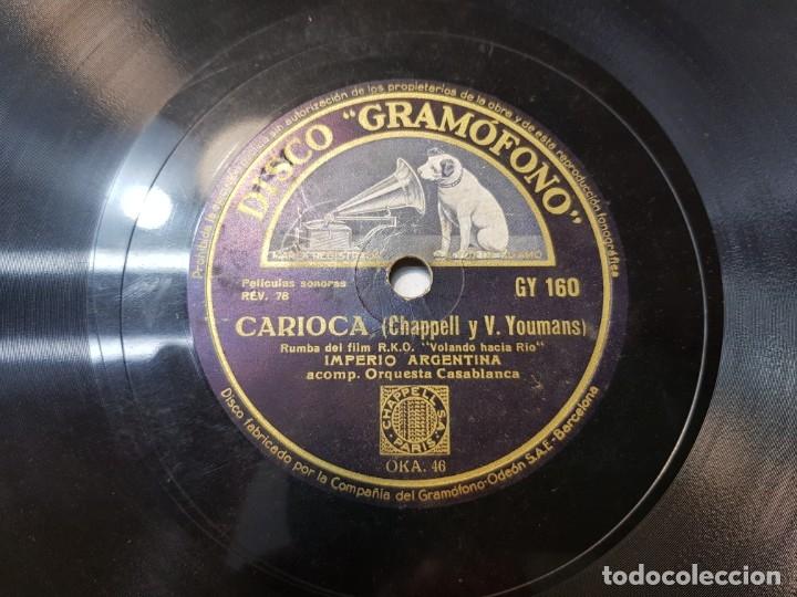 Discos de pizarra: Disco pizarra antiguo-Romanza Rusa-Imperio Argentina - Foto 3 - 176967293