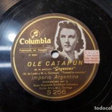 Discos de pizarra: DISCO PIZARRA ANTIGUO-OLE CATAPUN-IMPERIO ARGENTINA . Lote 176967585