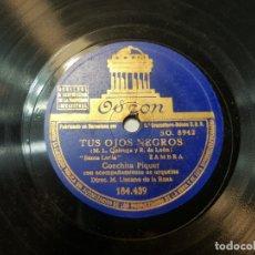 Discos de pizarra: DISCO PIZARRA ANTIGUO-TUS OJOS NEGROS-CONCHITA PIQUER . Lote 176967934