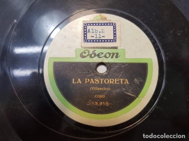 DISCO DE PIZARRA ANTIGUO-LA PASTORETA-VILLANCICO DE ODEON (Música - Discos - Pizarra - Flamenco, Canción española y Cuplé)