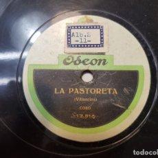 Discos de pizarra: DISCO DE PIZARRA ANTIGUO-LA PASTORETA-VILLANCICO DE ODEON. Lote 176975618