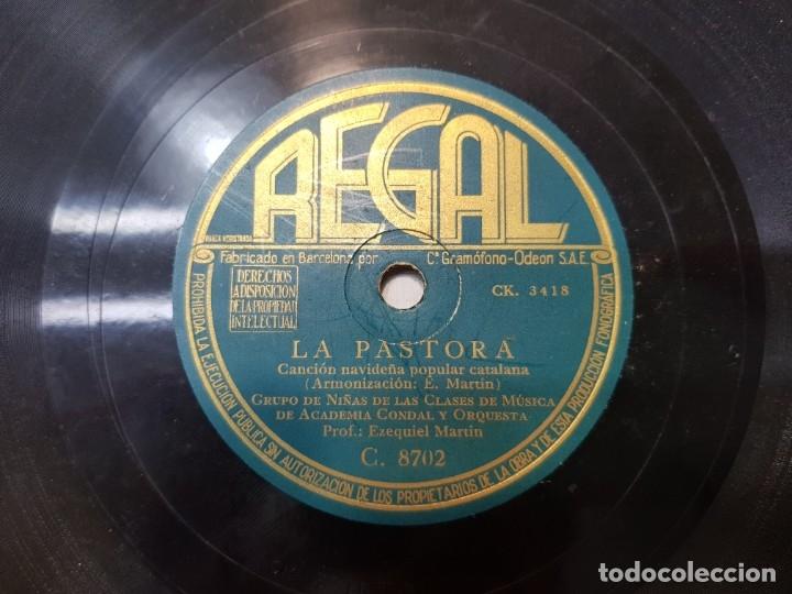 DISCO DE PIZARRA ANTIGUO-LA PASTORA-VILLANCICO POPULAR CATALAN (Música - Discos - Pizarra - Flamenco, Canción española y Cuplé)