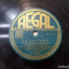 Discos de pizarra: DISCO DE PIZARRA ANTIGUO-LA PASTORA-VILLANCICO POPULAR CATALAN . Lote 176976794