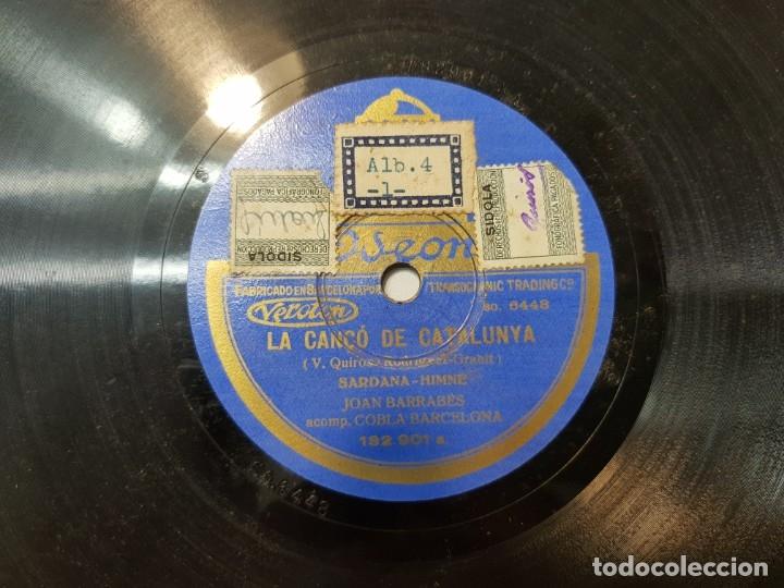 DISCO DE PIZARRA ANTIGUO-LA CANĆO DE CATALUNYA-HIMNO CATALAN HISTÓRICO SELLADO (Música - Discos - Pizarra - Flamenco, Canción española y Cuplé)