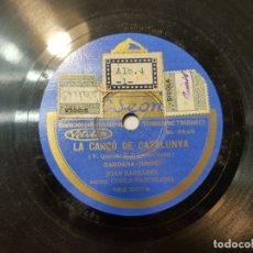 Discos de pizarra: DISCO DE PIZARRA ANTIGUO-LA CANĆO DE CATALUNYA-HIMNO CATALAN HISTÓRICO SELLADO. Lote 176977973