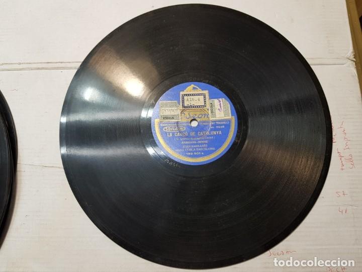 Discos de pizarra: Disco de Pizarra antiguo-La Canćo de Catalunya-Himno Catalan histórico sellado - Foto 2 - 176977973