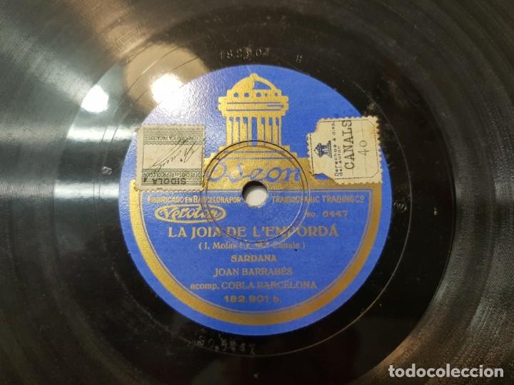 Discos de pizarra: Disco de Pizarra antiguo-La Canćo de Catalunya-Himno Catalan histórico sellado - Foto 3 - 176977973
