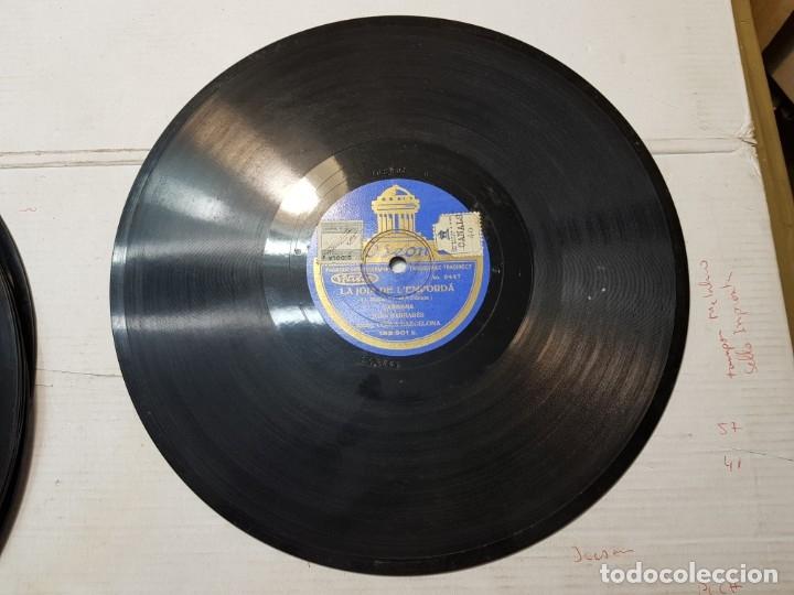 Discos de pizarra: Disco de Pizarra antiguo-La Canćo de Catalunya-Himno Catalan histórico sellado - Foto 4 - 176977973