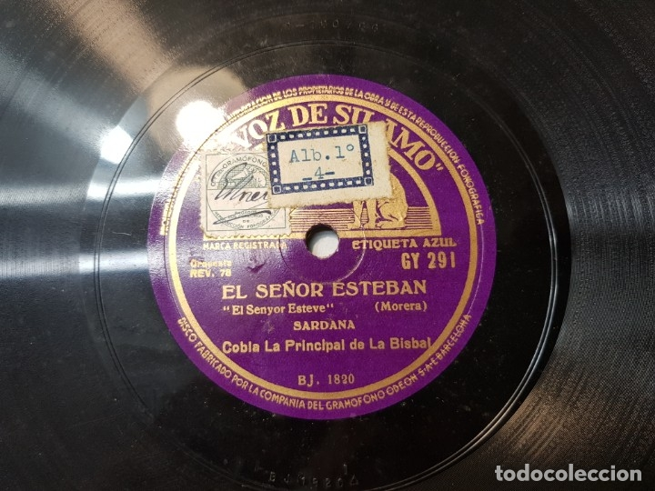 DISCO DE PIZARRA ANTIGUO-EL SEÑOR ESTEBAN-SARDANA SELLADO ESCASO (Música - Discos - Pizarra - Flamenco, Canción española y Cuplé)