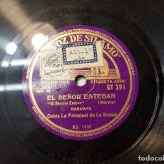 Discos de pizarra: DISCO DE PIZARRA ANTIGUO-EL SEÑOR ESTEBAN-SARDANA SELLADO ESCASO. Lote 176979123