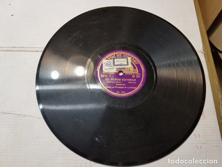 Discos de pizarra: Disco de Pizarra antiguo-El Señor Esteban-Sardana sellado escaso - Foto 2 - 176979123