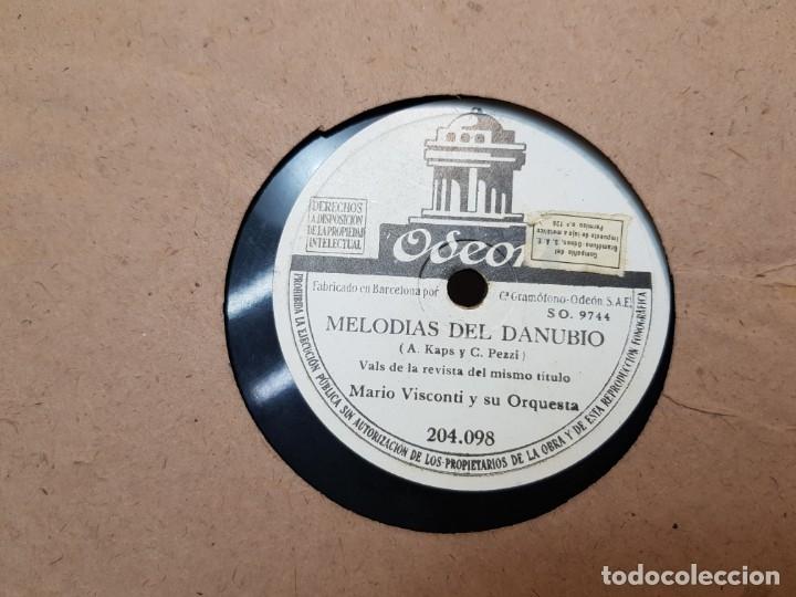 DISCOS DE PIZARRA LOTE 12 EN ALBUM VALS ,OLAS DEL DANUBIO Y OTROS GRANDES TEMAS (Música - Discos - Pizarra - Clásica, Ópera, Zarzuela y Marchas)
