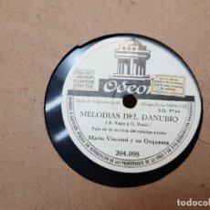 Discos de pizarra: DISCOS DE PIZARRA LOTE 12 EN ALBUM VALS ,OLAS DEL DANUBIO Y OTROS GRANDES TEMAS. Lote 176980205