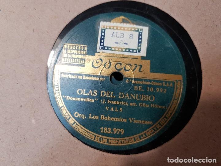 Discos de pizarra: Discos de Pizarra lote 12 en album Vals ,Olas del Danubio y otros grandes temas - Foto 2 - 176980205