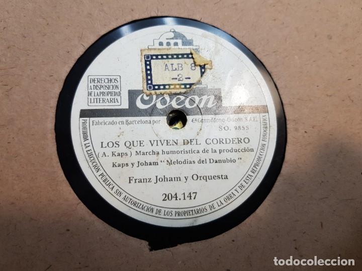 Discos de pizarra: Discos de Pizarra lote 12 en album Vals ,Olas del Danubio y otros grandes temas - Foto 5 - 176980205