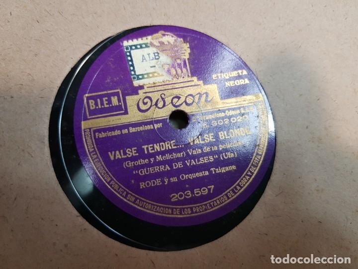 Discos de pizarra: Discos de Pizarra lote 12 en album Vals ,Olas del Danubio y otros grandes temas - Foto 12 - 176980205
