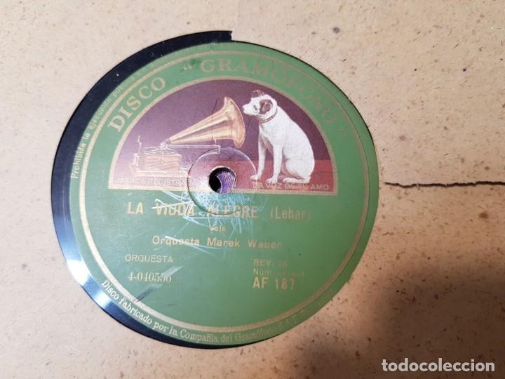 DISCOS DE PIZARRA LOTE 8 EN ALBUM VALS ,DANUBIO AZUL Y OTROS GRANDES TEMAS (Música - Discos - Pizarra - Clásica, Ópera, Zarzuela y Marchas)