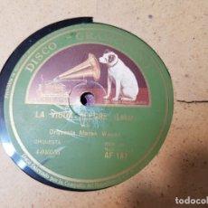 Discos de pizarra: DISCOS DE PIZARRA LOTE 8 EN ALBUM VALS ,DANUBIO AZUL Y OTROS GRANDES TEMAS. Lote 176980473