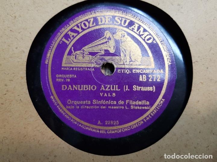 Discos de pizarra: Discos de Pizarra lote 8 en album Vals ,Danubio Azul y otros grandes temas - Foto 2 - 176980473