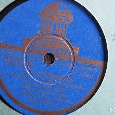 Discos de pizarra: DISCO DE PIZARRA - LAS LEANDRAS. CHOTIS DEL PICHI. PASACALLES DE LOS NARDOS. CELIA GÁMEZ. Lote 177112098