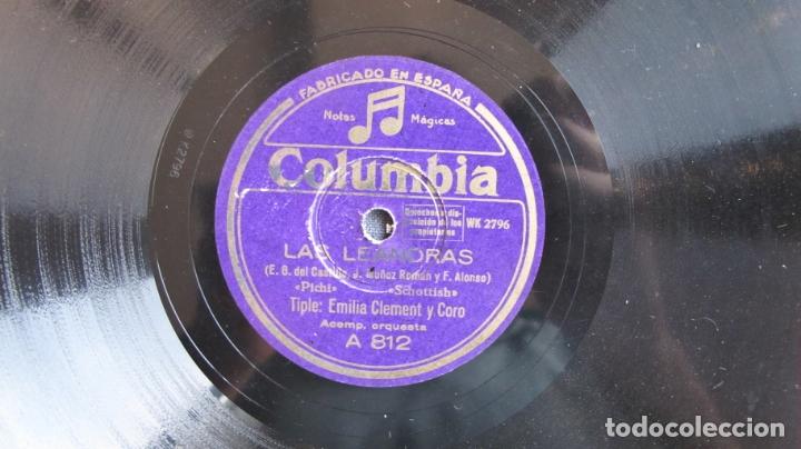 Discos de pizarra: DISCO DE PIZARRA - LAS LEANDRAS EMILIA CLEMENT - Foto 3 - 177113252