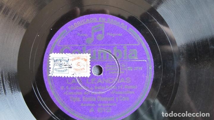 DISCO DE PIZARRA - LAS LEANDRAS EMILIA CLEMENT (Música - Discos - Pizarra - Flamenco, Canción española y Cuplé)