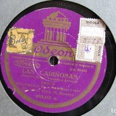 Discos de pizarra: DISCO DE PIZARRA - LAS CARIÑOSAS - CHOTIS - CADENAS - ODEÓN. Lote 177113877