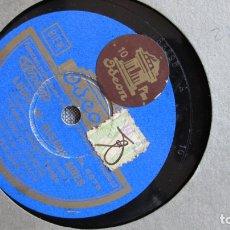 Discos de pizarra: DISCO DE PIZARRA - LUCES DE BUENOS AIRES - TANGO - GARDEL - COMO ABRAZADO A UN RENCOR. Lote 177115320