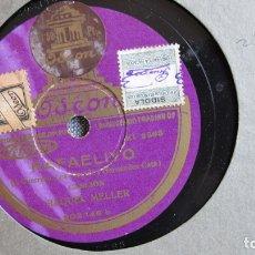 Discos de pizarra: DISCO DE PIZARRA - RAFAELIYO - RAQUEL MELLER - LA CAMPANA. Lote 177115547