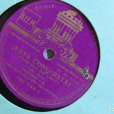 Discos de pizarra: DISCO DE PIZARRA - VAYA CONQUISTA - QUE FACHA TENGO - ODEON LOOK IN THE MIRROR . Lote 177116618