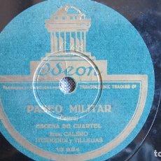 Discos de pizarra: DISCO DE PIZARRA - AL TOQUE DE DIANA - CALERO, ITURMENDI VILLEGAS - PASEO MILITAR - CRATEL. Lote 177117002